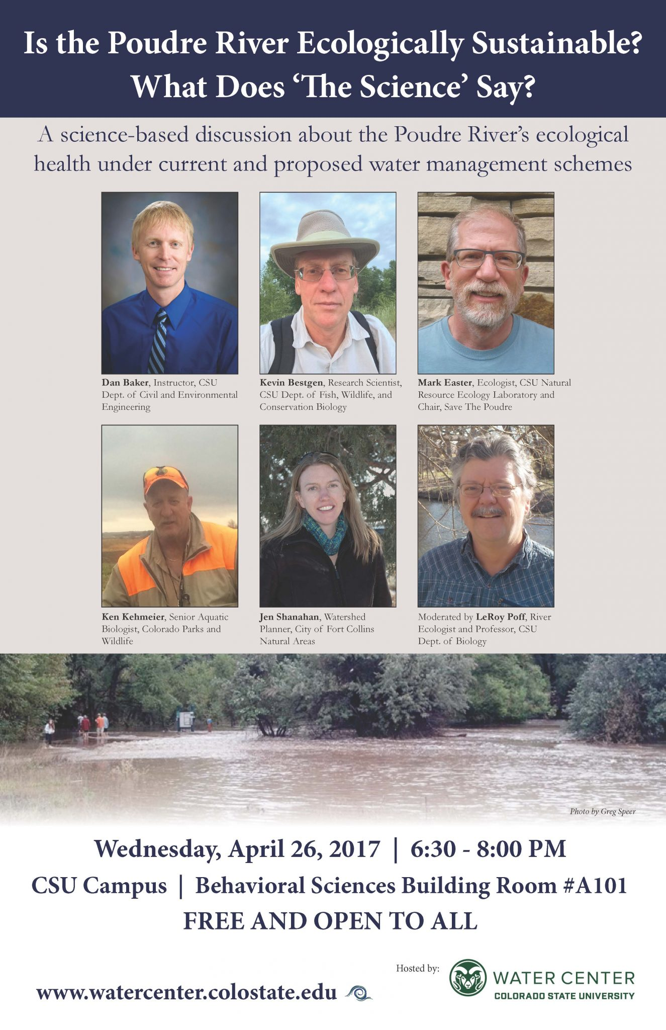 Cover Image of Poudre River Panel Discussion Announcement
