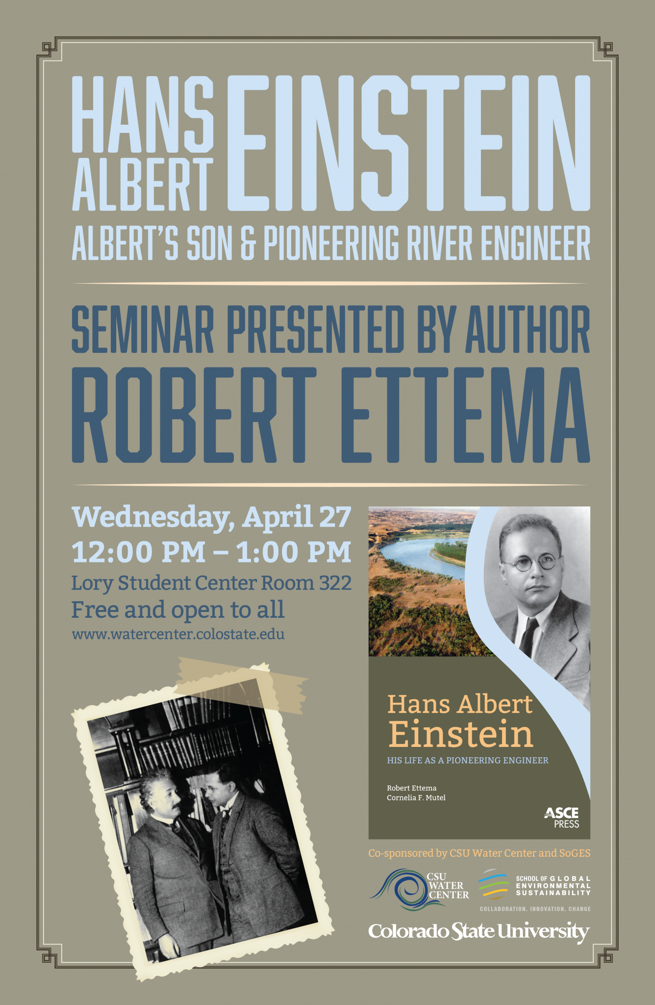 Cover Image of Robert Ettema Seminar Announcement