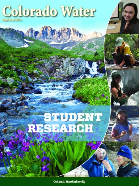 Colorado Water newsletter, May/June 2018 issue on student research
