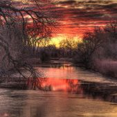 Poudre River Sunset - resized
