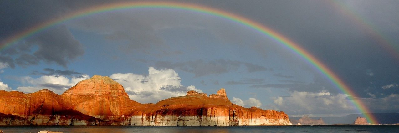 Rainbow over Lake Powell