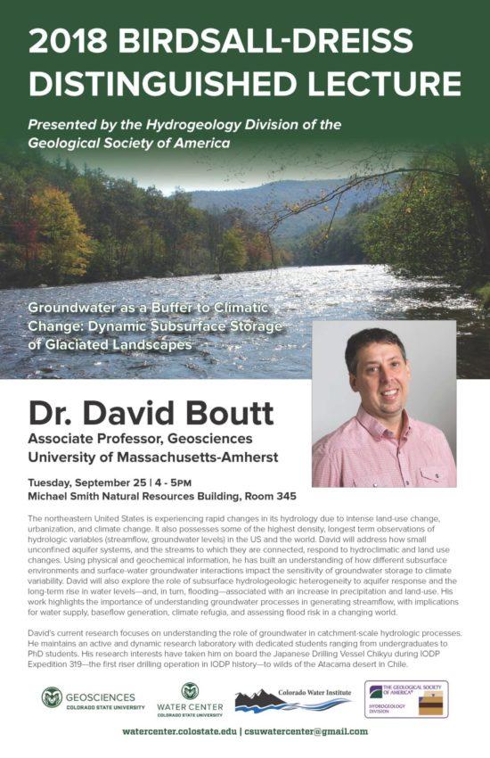 2018 Birdsall-Dreiss Lecture Boutt