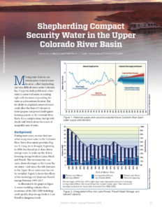 Colorado Water article cover on orkshop on Shepherding Water in Colorado for Colorado River Compact Security